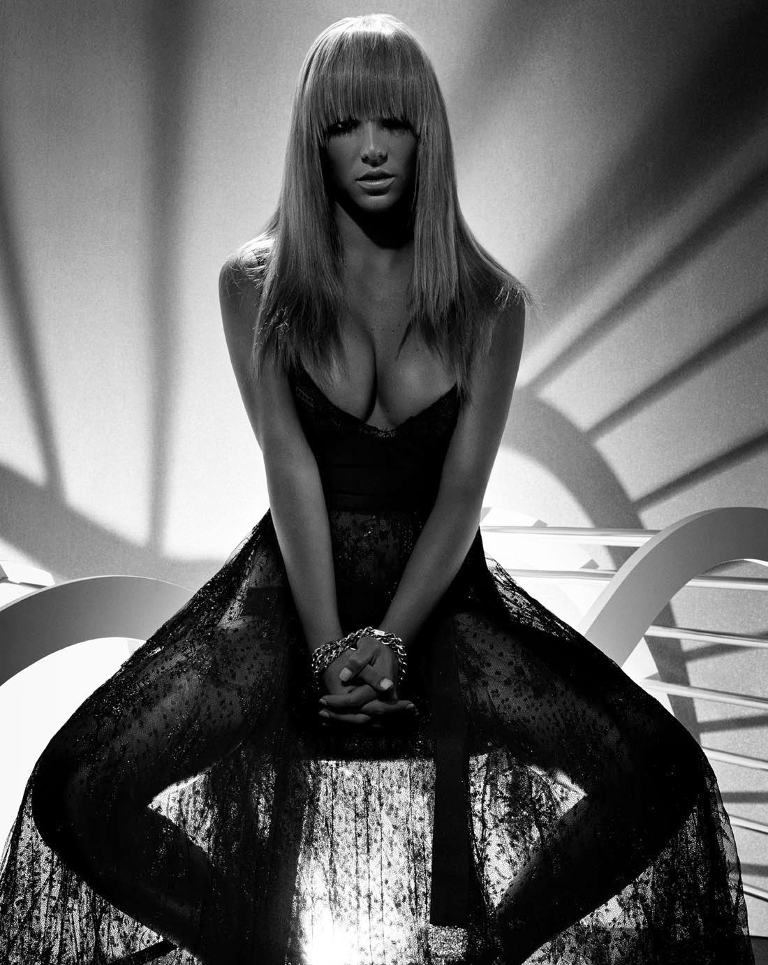 Britney spears nude black and white picture 737