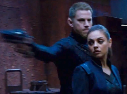 Get Futuristic Jupiter Ascending 2014 Mila Kunis and Channing Tatum official movie trailer poster