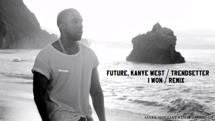 Kanye West, Future - I Won Trophy Mark Holiday 2015 photoshoot