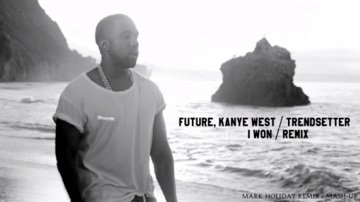 Kanye West, Future - I Won Trophy Mark Holiday 2015 photoshoot